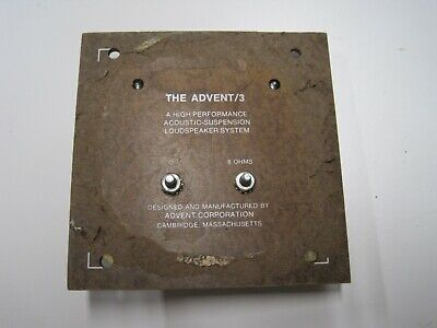 AU13.80 • Buy Advent 3  2-way Crossover / Input Plate
