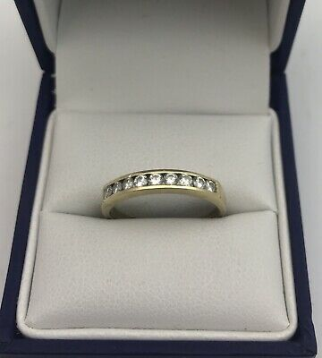 Vintage 18ct Gold & Diamond 9 Stone Ring  Size N1/2.  0.36 Carats. • 145£