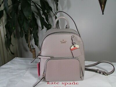$ CDN199.77 • Buy NWT Kate Spade Caden Carter Leather Backpack Soft Taupe