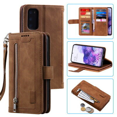 $ CDN14.45 • Buy For Samsung Galaxy S20 S10 S9 S8 A51 A71 Leather Zip Wallet Case Card Slot Cover