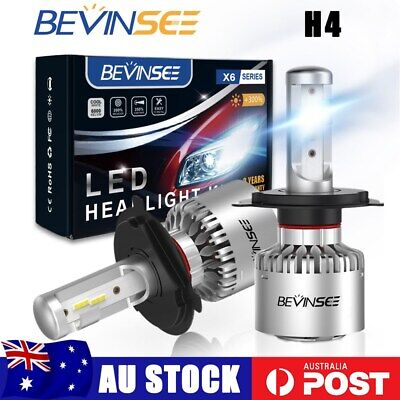 AU42.59 • Buy 2x H4 9003 HB2 CSP LED Headlight Bulbs 6000K 50W 8000LM Hi/Low Beam Fanless Lamp