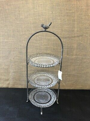 Cake Stand 3 Tier Little Bird Cake Stand NYC016 New In Box • 25£