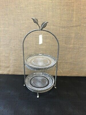 Cake Stand 2 Tier Little Leaf Cake Stand NYC013 New In Box • 20£