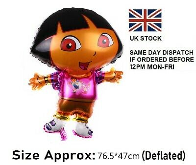 Brand New 30  Dora The Explorer Shaped Foil Balloon Birthday Party Decoration UK • 1.99£