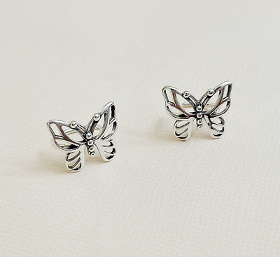 $10.98 • Buy S925 Sterling Silver Hollow Out Butterfly Clip On Ear Cuff No Piercing