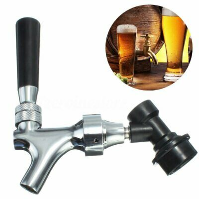 Chrome Beer Tap Faucet With CMB Ball Lock Disconnect For Cornelius / Corny Kegs • 19.75£