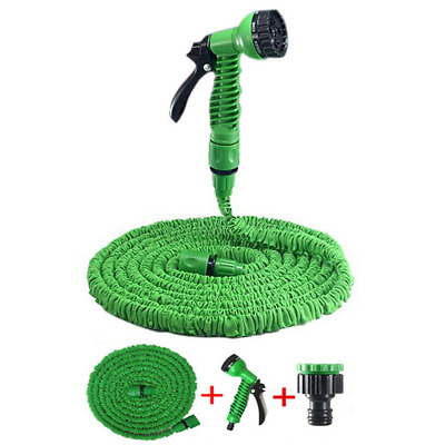 Expandable Garden Hose Pipe 25ft - 200FT Spray Gun Watering Gun Plants Car Wash • 7.49£
