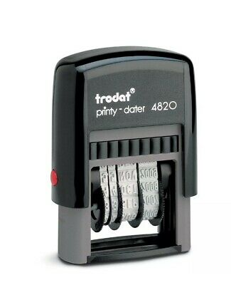 £7.99 • Buy Date Stamp  Self Inking Rubber Stamp Mini Dater 4820 Trodat New Up To 2030