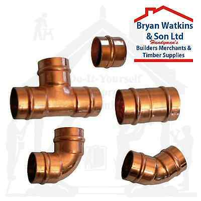15mm Solder Ring Copper Yorkshire Plumbing Pipe Fittings Pre Soldered Microbore • 5.95£