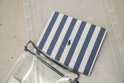 RALPH LAUREN CL CLUB STRIPE NAVY Duvet Covers 160 X 210 • 45£
