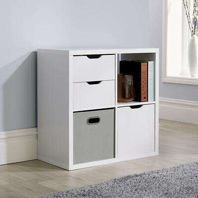 £44.99 • Buy Deluxe Chunky Storage Cube 4 Shelf Bookcase Wooden Display Unit Organiser White