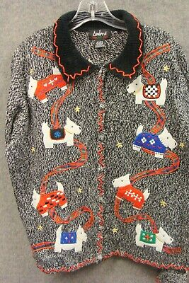 $1.99 • Buy Ugly Christmas Sweater Scottie Dog By Ambra Women's Large
