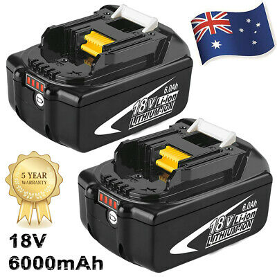 AU75.99 • Buy 18V 6.0Ah REPLACE BL1860B BATTERY LXT LITHIUM-ION FOR Makita BL1850B LED Tools