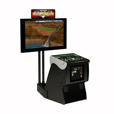 $4999 • Buy Incredible Technologies 2020 Golden Tee Golf Live Arcade Game With Monitor Stand