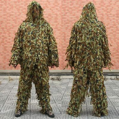 AU37.05 • Buy 3D Camo Ghillie Suit Lightweight Camouflage Hunting Clothing Jacket&Pant Sets