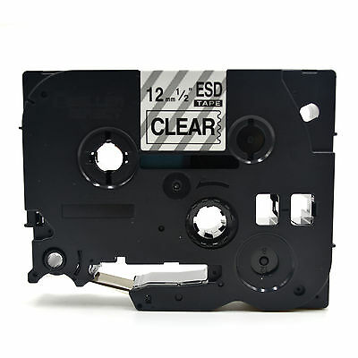 £24 • Buy Compatible 12MM TZe-131 Label Tape Fits BROTHER Black On Clear 12mm X 8 METERS