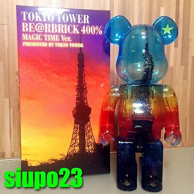 $499.99 • Buy Medicom 400% Bearbrick ~ Tokyo Tower Be@rbrick Magic Time Version