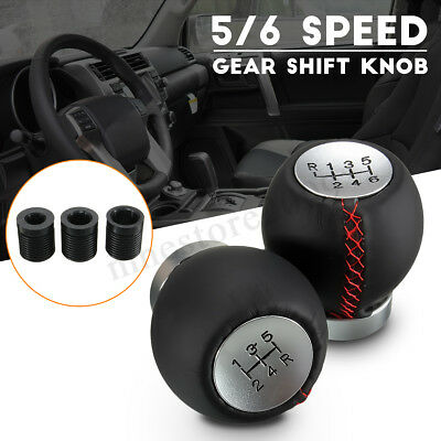 AU22.49 • Buy Leather 5 6 Speed Manual Car Gear Shift Knob Shifter Stick Lever For