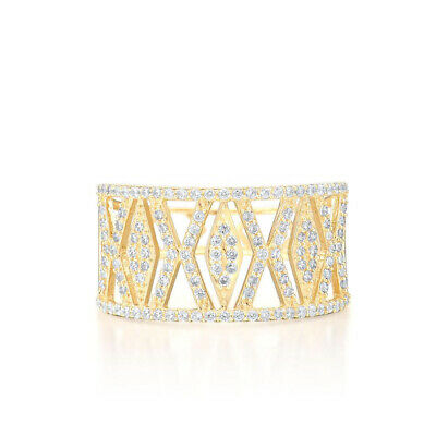 AU1213.73 • Buy 9K Yellow Gold Ring Sparkling Diamond Band Rings Anniversary Fine Jewelry