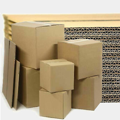 Single & Double Wall CARDBOARD Postal Removal Moving BOXES - Packing Box  • 12.95£