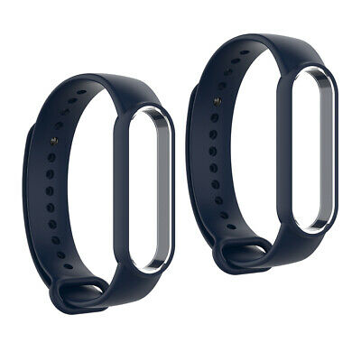 AU7.99 • Buy 2x Dark Blue Replacement Silicone Band Strap Fit For Xiaomi MI Band 5 New