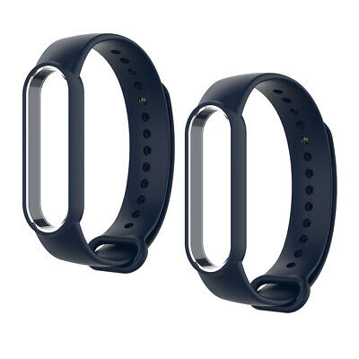 AU7.99 • Buy 2 Pack Replacement Silicone Band Soft Watch Band Fit For Xiaomi MI Band 5