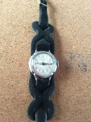 """RARE VINTAGE ORIS BACKWARDS ! TRENCH STYLE WATCH """" Pre 1920s """". • 25£"""