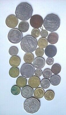 Foreign Coins Joblot Collection Of Various Coins. • 1.99£