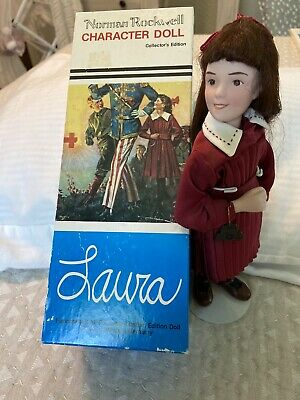 $42 • Buy Laura Norman Rockwell Porcelain Character Doll Rumble Seat 1984 Figurine Germany