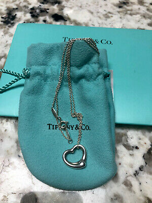 $50 • Buy Tiffany &Co Elsa Peretti Open Heart Necklace Silver 925