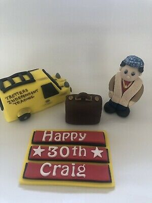 Only Fools And Horses Edible Cake Topper Del Van Suit Case  . Name Plaque • 18£