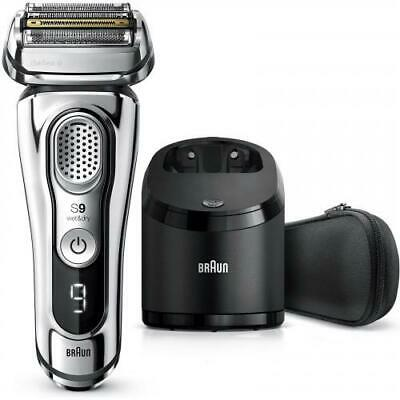 AU511.95 • Buy Braun Series 9 9390CC Wet & Dry Shaver (Silver) W/ Cleaning & Charging Station A