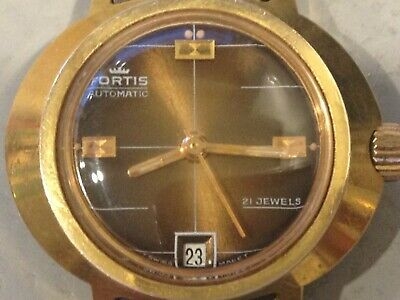 AU95 • Buy Vintage Fortis Automatic Ladies Watch, 21 Jewels, Swiss Made, Original Bracelet