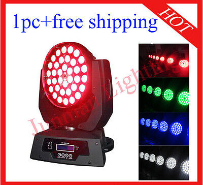 1pc 36*10W RGBW 4 In 1 Led Zoom Moving Head Light Wash Lighting Free Shipping • 203£