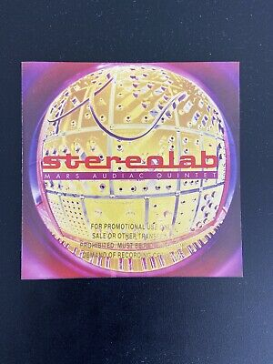 Stereolab Mars Audiac Quintet CD Rare Gold Embossed Promo Stamp • 6.99£