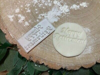 £3.79 • Buy Happy Retirement Cookie Embossing Stamp / Fondant / Icing