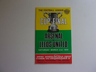 Arsenal Vs. Leeds United. 1968 Football League Cup Final Matchday Programme.  • 3.49£