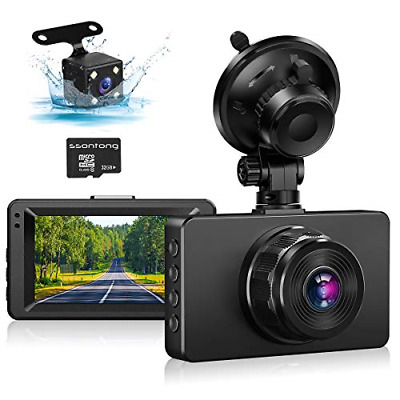 AU99.42 • Buy Dual Dash Cams For Cars, Front And Rear 1080P Full HD Dashboard Camera, 170°Wide