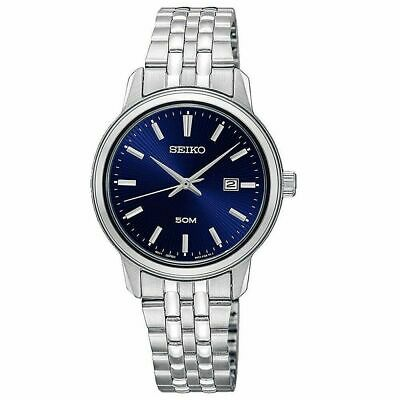 $ CDN99.99 • Buy Seiko Neo Classic Quartz Stainless Steel Blue Dial Ladies Watch - SUR665P1