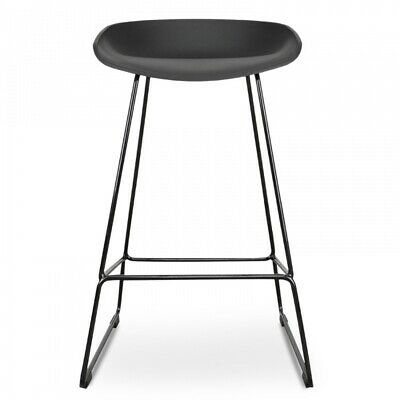 AU197 • Buy NEW Tractor Counter Black Frame 65cm Bar Stool Black Seat With