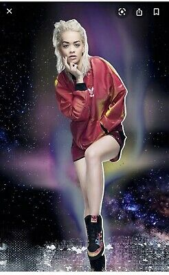 AU69.99 • Buy Adidas RITA ORA SPACE SHIFTER ALL-IN-ONE JACKET IN RED AND BLACK Size XS/6