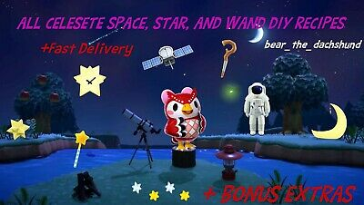 $7.99 • Buy COMPLETE Celeste Space And Wand DIY Set: Animal Crossings New Horizons