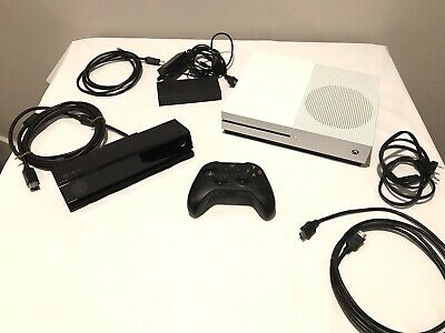 $269 • Buy XBox One S 500GB White Console Bundle - Controller, Kinect, HDMI & Cables