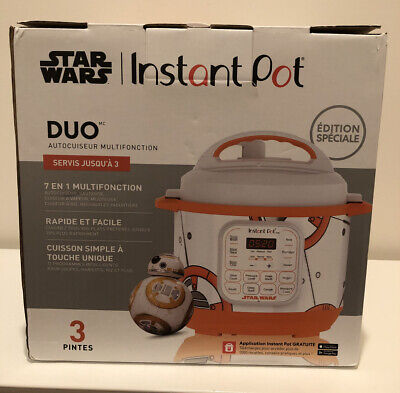 $120 • Buy INSTANT POT STAR WARS BB-8 SPECIAL EDITION 3-Quart Pressure Cooker DUO NEW