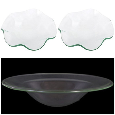 Replacement Glass Dish Spare Bowl For Oil Burner 10CM 12CM **BUY 2 RECEIVE 3** • 3.99£