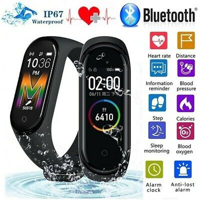 $ CDN14.71 • Buy IP67 Smart Bracelet Waterproof Watch Wristband M4/M5 Heart Rate Sleep Monitor