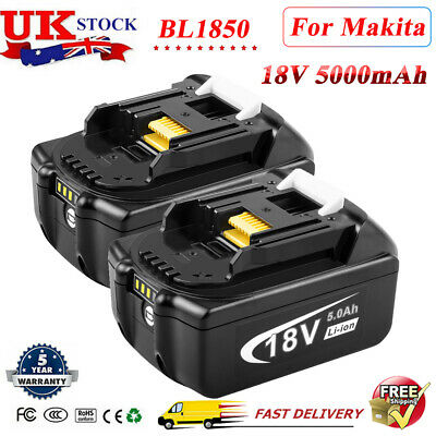 2 X 3Ah LXT Li-Ion Battery For Makita BL1850 BL1860 BL1840 BL1830 Cordless Drill • 32.99£