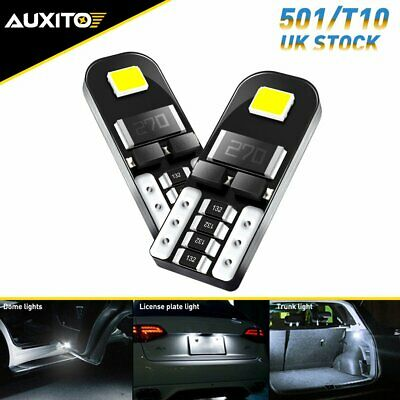 £3.54 • Buy 2X AUXITO 501 LED T10 White Side Light Car Wedge Lamp 12V W5W Number Plate Bulb
