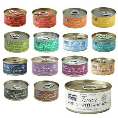 Fish4Cats Finest Wet Cat Food Mixed Selection High Fish Content Tins 70g X 10  • 14.99£