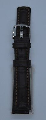 NEW HIRSCH GRAND DUKE BROWN Or BLACK LEATHER WATCH STRAP NEW FAST FIT PINS • 40£